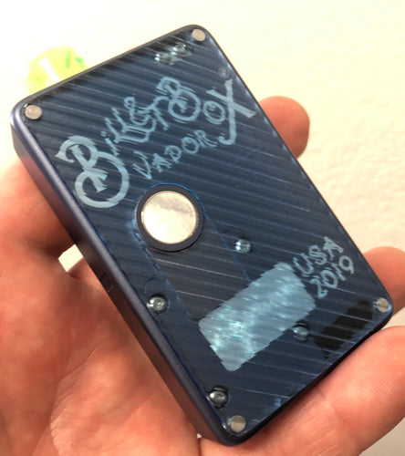 Blue Tint Grippy billet box rev4 doors (mod not included)