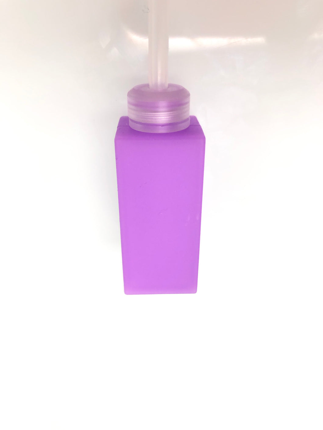 Purple Square'd bottle clear cap