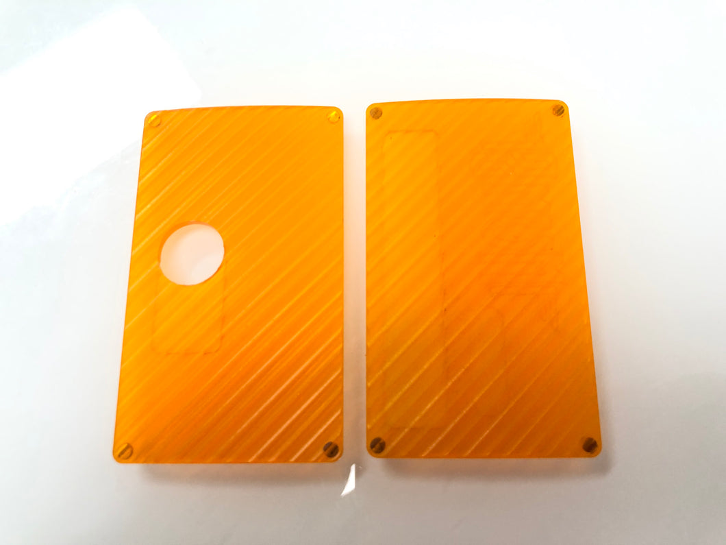 Orange acrylic Grippy billet box rev4 doors (mod not included)