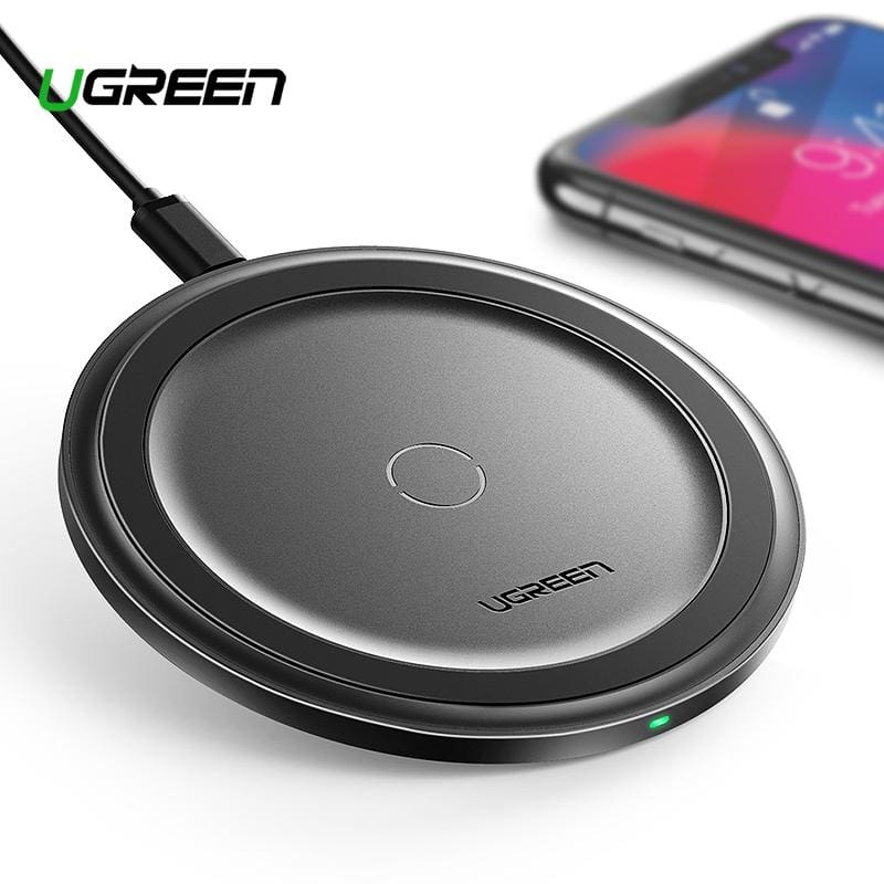10W Qi Wireless Charger for iPhone X XS XR 8 Plus Samsung S8 S9 S10-Cell Phone Accessories-US MART NEW YORK