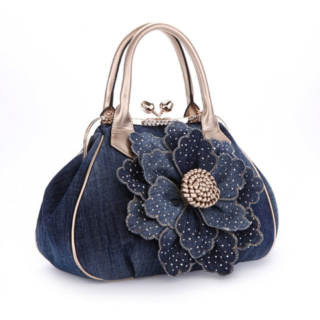 Flower Messenger Canvas Casual Women Tote
