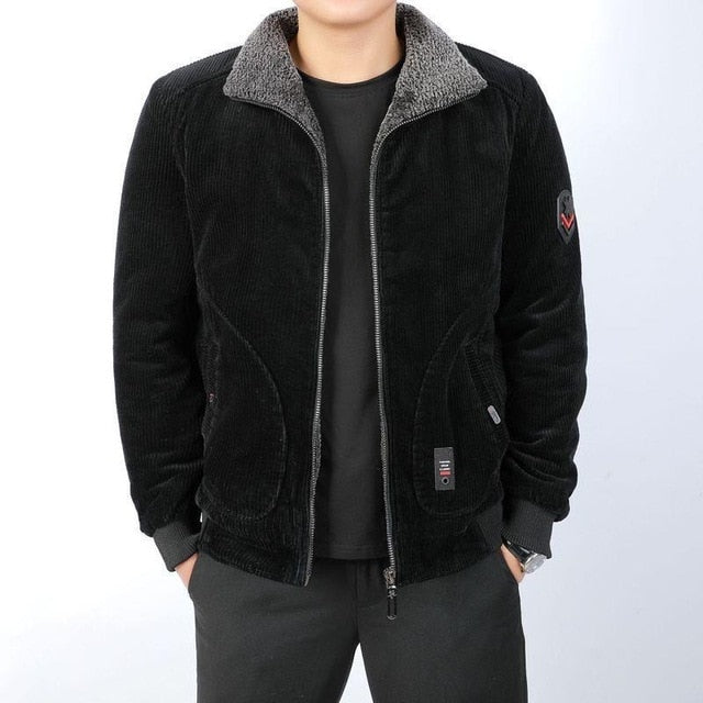 Cotton Padded Warm Loose Parka Winter Jacket for Men