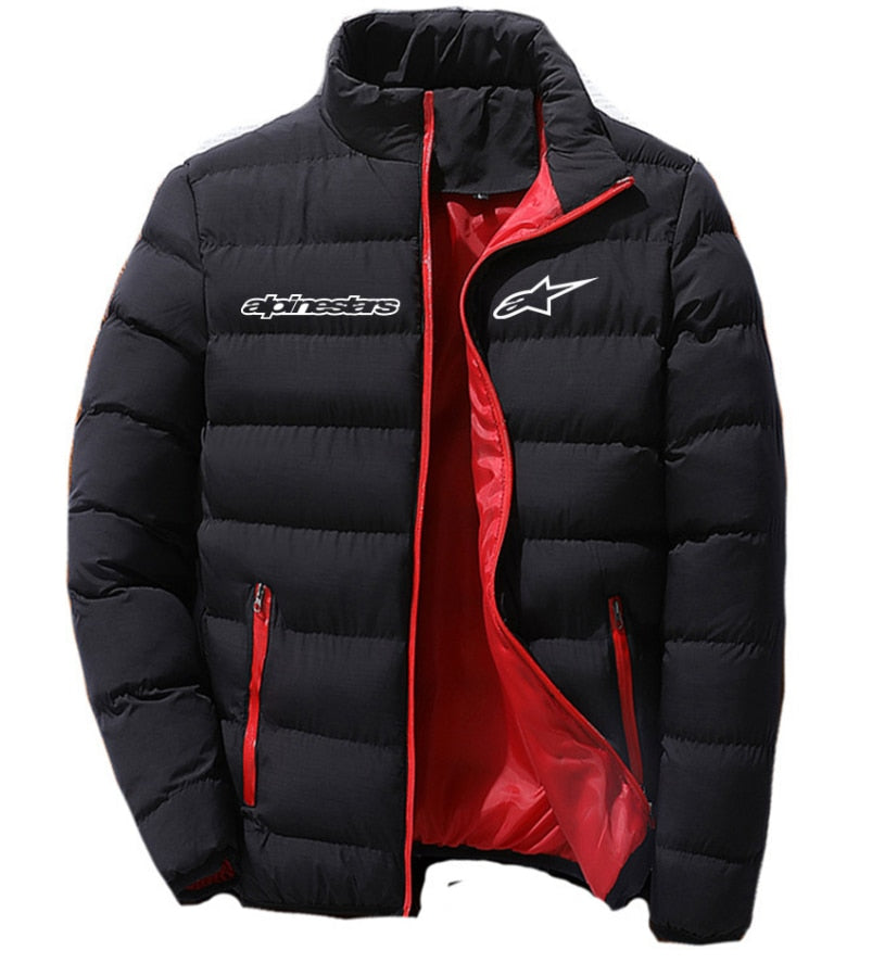 Alpinestars Men's Fashion Jacket Zipper Comfortable Cotton Clothes Winter Snowy Day Warm