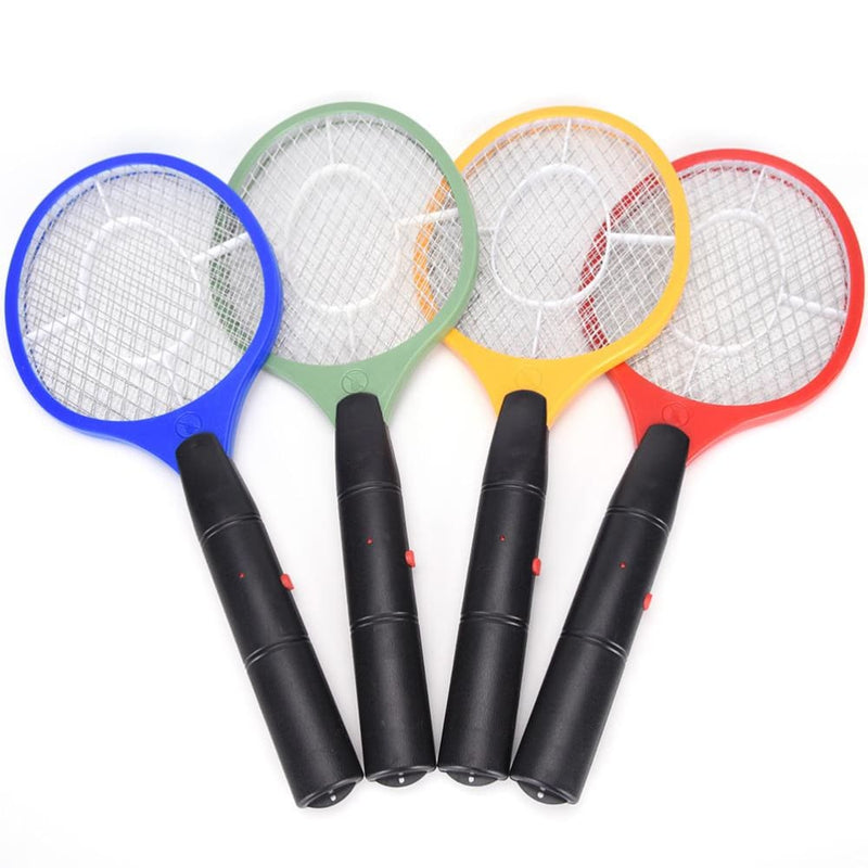 3 Layers Net Dry Cell Hand Racket Electric Swatter Mosquito Killer-Kitchen Helpers-US MART NEW YORK