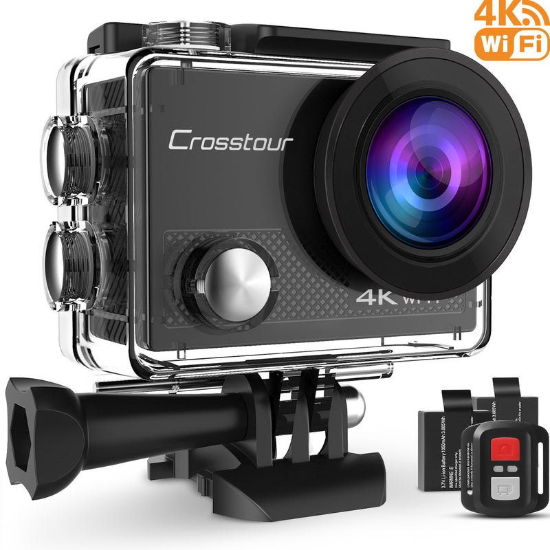 Crosstour Action Waterproof Camera 4K WIFI 16MP Ultra HD with Remote Control-Action Cameras-US MART NEW YORK