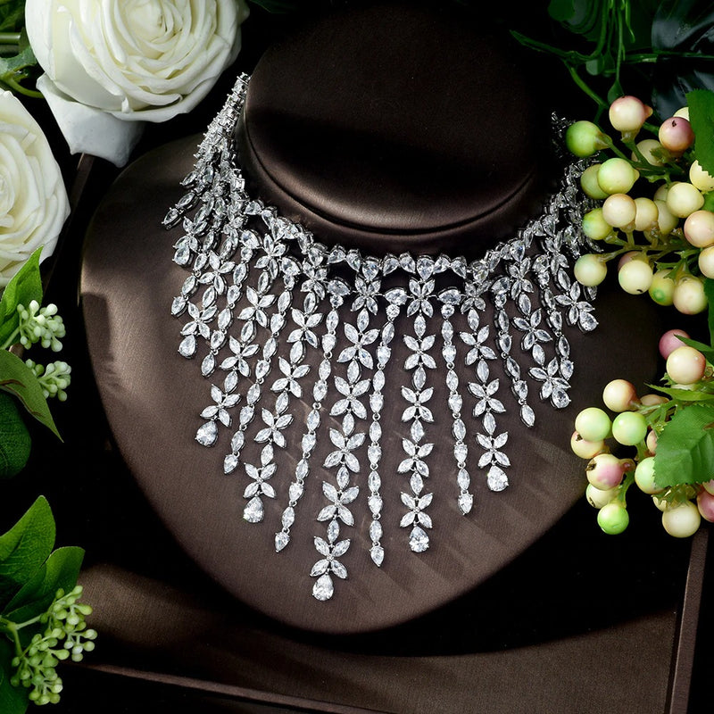 AAA Cubic Zirconia Bridal Wedding Jewelry Sets