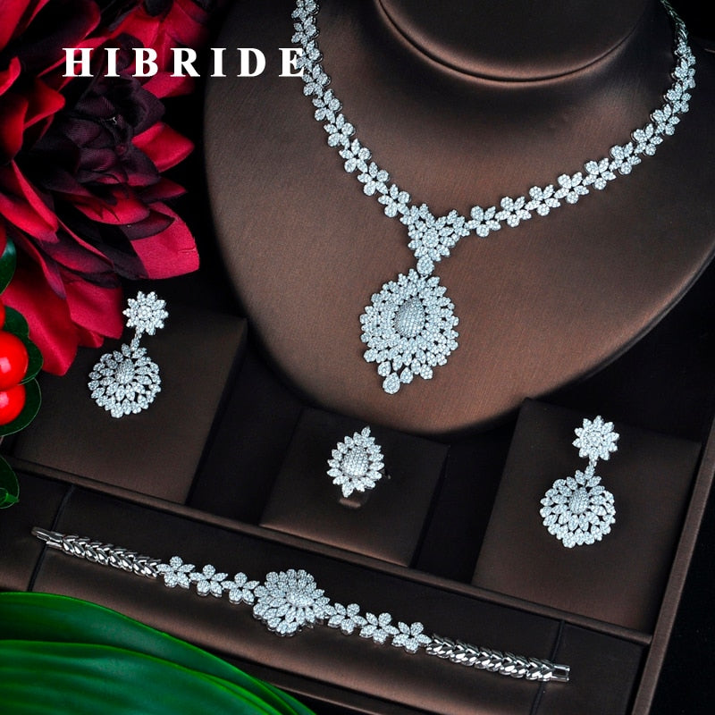 Cubic Zirconia Luxury Jewelry Set