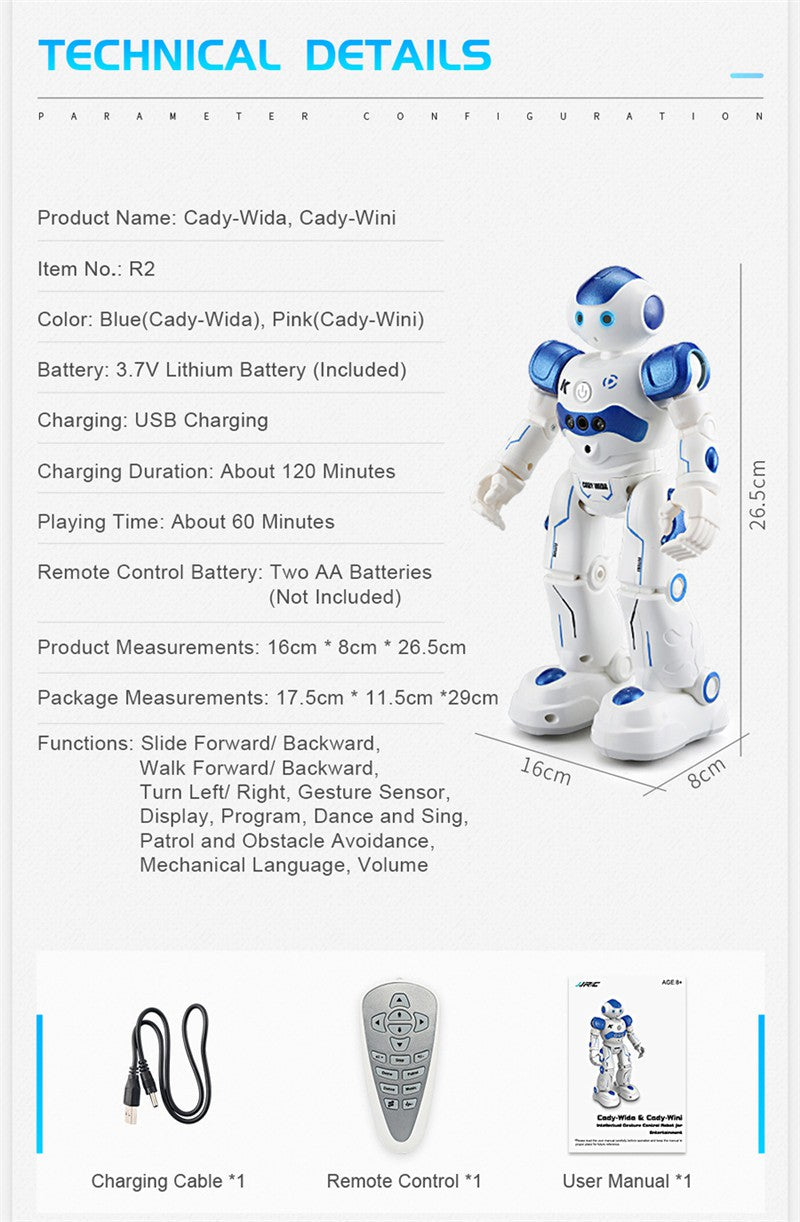 JJR/C JJRC R2 USB Charging Dancing Gesture Control RC Robot-Games and Toys-US MART NEW YORK