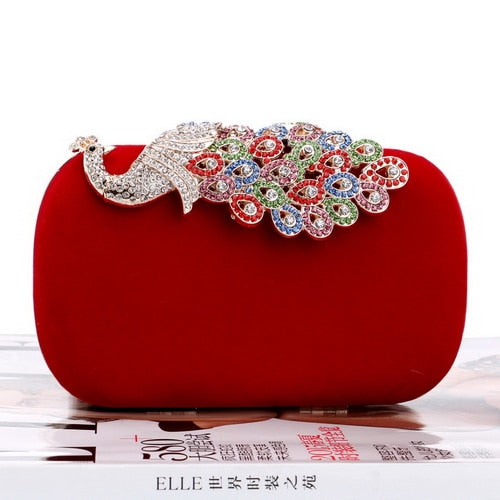 Crown Rhinestones Evening Purse