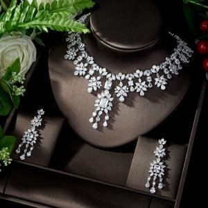 AAA Cubic Zirconia Elegant Jewelry Sets white JEWELRY SETS