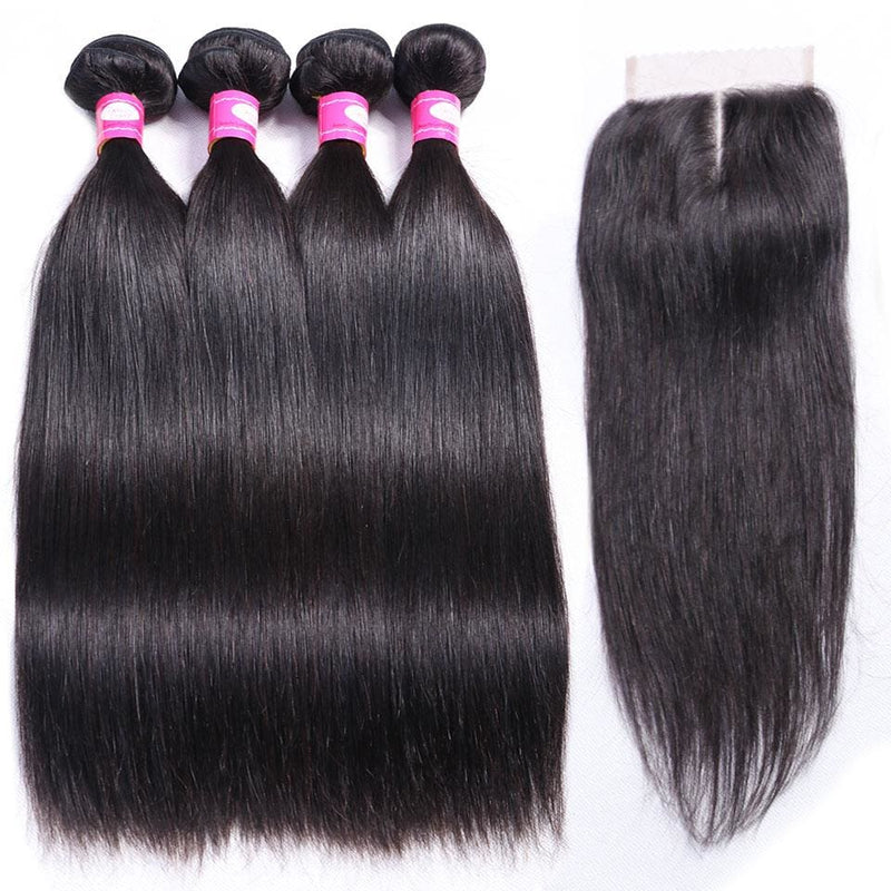 Brazilian Straight Hair Weave Bundles-HAIR EXTENSIONS-US MART NEW YORK