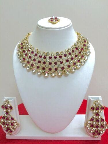 Designer Gold Plated Bridal Fashion Jewelry Set-JEWELRY SETS-US MART NEW YORK