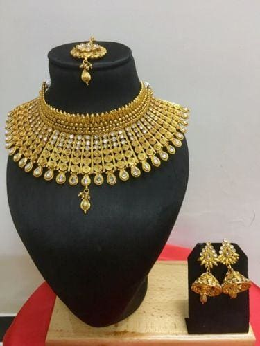 Gold Plated Ethnic Indian Wedding Jewelry Set-JEWELRY SETS-US MART NEW YORK