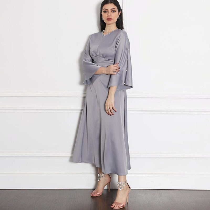 Kaftan Abaya Robe Satin Dress DRESSES