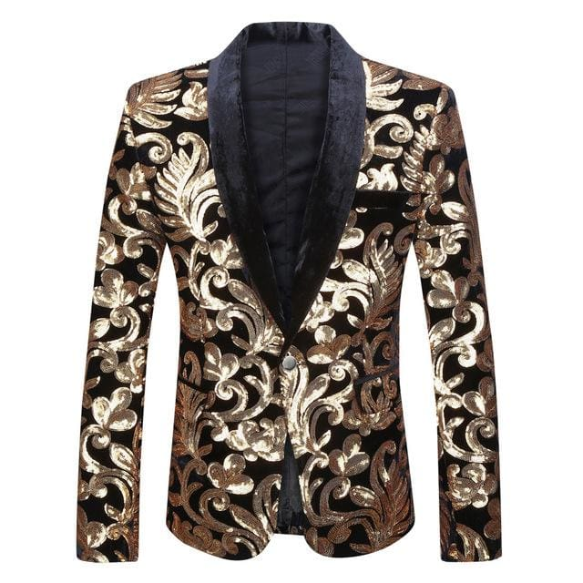 Men Shawl Lapel Blazer Design Suit Only Blazer / L Jackets