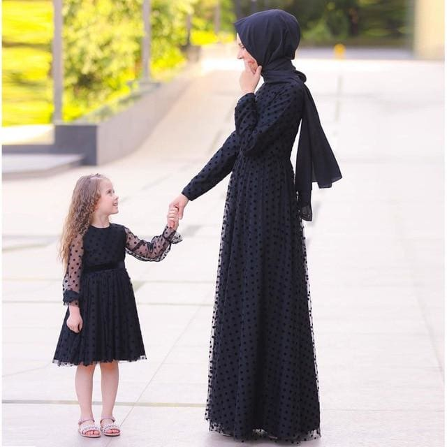 Muslim Mother Daughter Family Matching Clothing HIJAB & BURKA