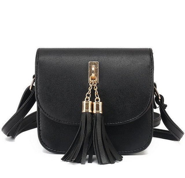 Vogue Star Fashion 2017 Small Chains Bag Women Candy Color Tassel Messenger Bags Female Handbag Shoulder Bag Flap Women Bag LA33-HANDBAGS-US MART NEW YORK