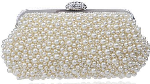 Women messenger beaded women vintage evening bags imitation pearl shell women bag shoulder bags,diamonds clutch bag for wedding-WEDDING PURSE-US MART NEW YORK