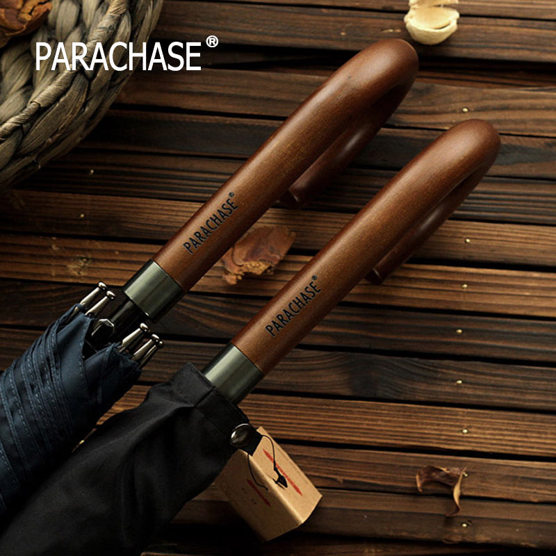 New Arrival Japanese Brand Long Umbrella 8K Windproof Wooden Handle Large Men Umbrellas Rain Quality Classic Business Paraguas-UMBRELLA-US MART NEW YORK