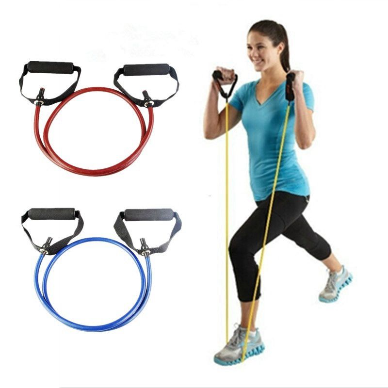 120cm Yoga Pull Rope Fitness Resistance Bands Exercise Tubes Practical Training Elastic Band Rope Yoga Workout Cordages 1PC-Fitness-US MART NEW YORK