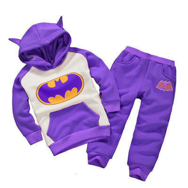 LZH Boys Clothes Set 2017 Spring Autumn Kids Clothes Boys Batman Hoodie+Pants Girls Sport Suit Children Clothing Baby Boys Sets-BOY CLOTHING-US MART NEW YORK