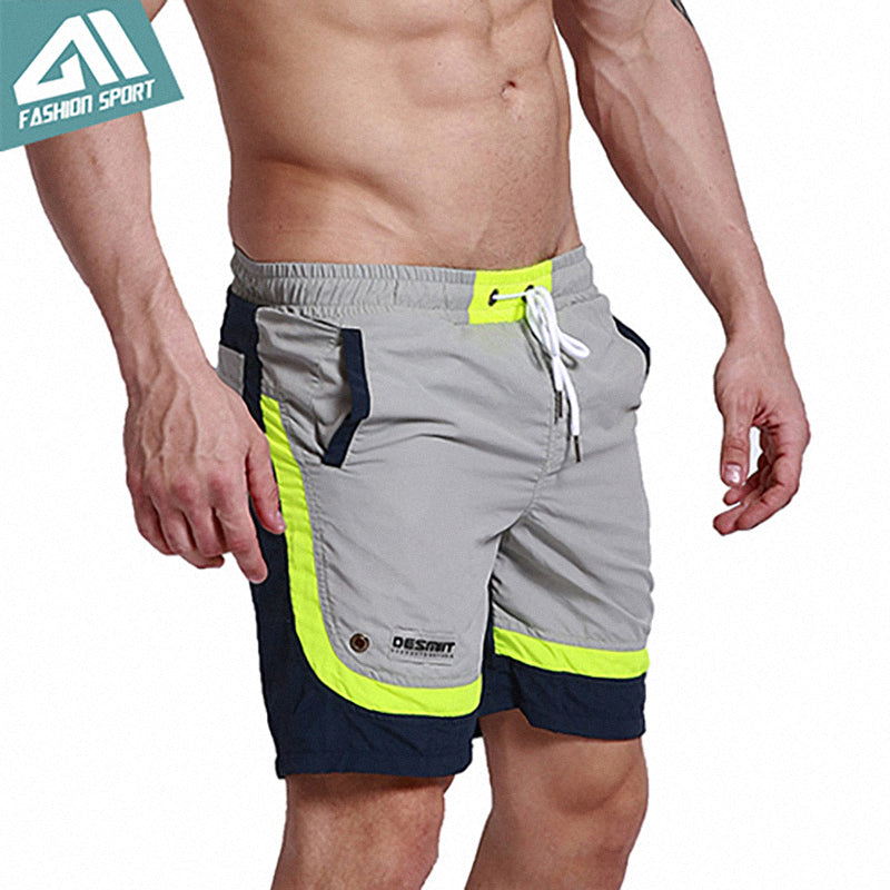 Summer Beach Men's Shorts Leisure Sport Running Workout Shorts New Patchwork Fast Dry Surf Men's BoardShorts