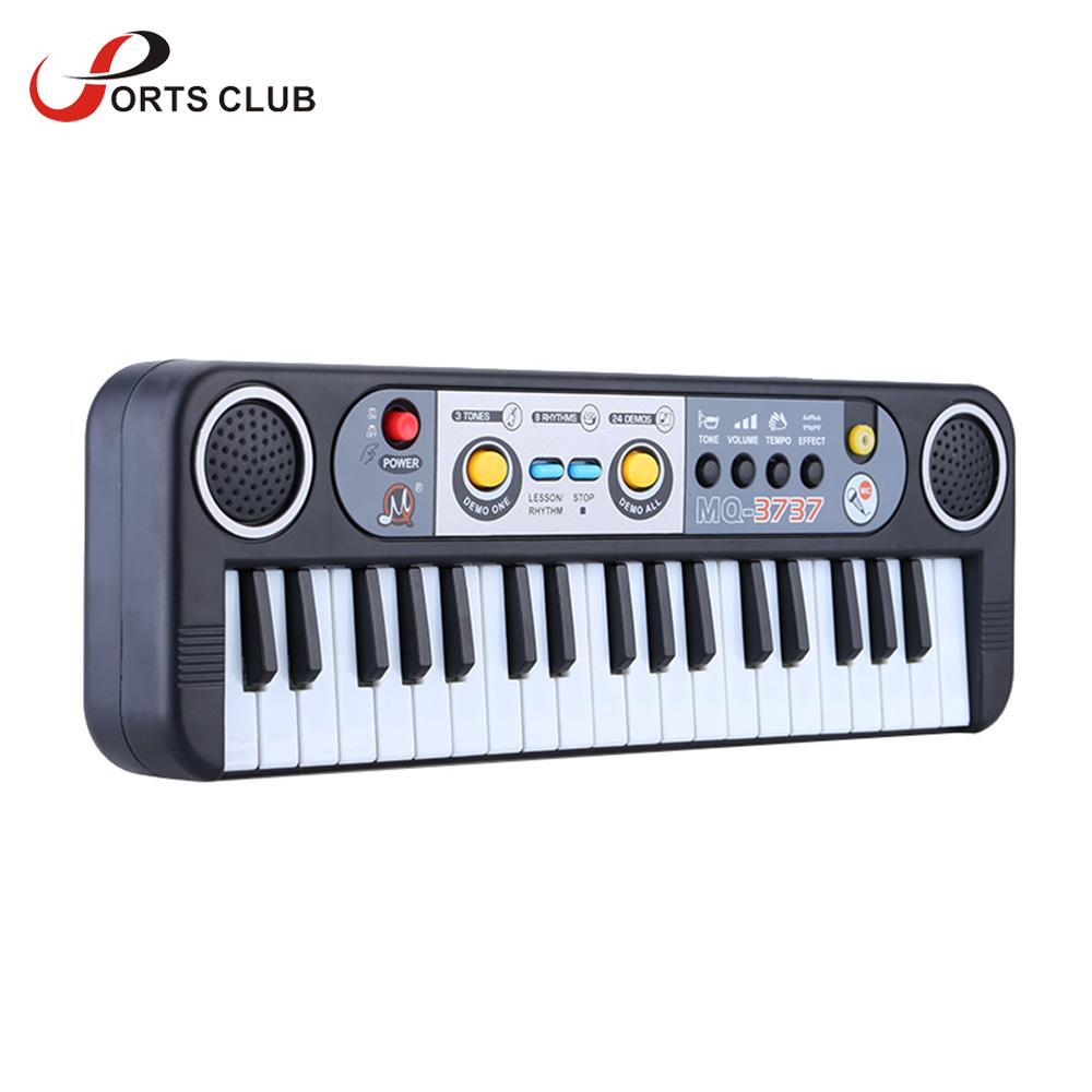 37 Keys Multifunctional Mini Electronic Keyboard Piano Music Toy with Microphone Educational Electone Gift for Children Babies-Games and Toys-US MART NEW YORK