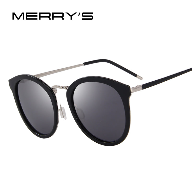 MERRY'S Women Brand Designer Cat Eye Sunglasses Fashion Polarized Sun Glasses Metal Temple 100% UV Protection-WOMEN SUNGLASSES-US MART NEW YORK