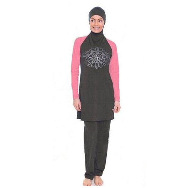 YONGSEN Modest Muslim Swimwear Hajib Islamic Swimsuit For Women mayo Full Cover Conservative Burkinis Swim Wear Plus Size-HIJAB & BURKA-US MART NEW YORK
