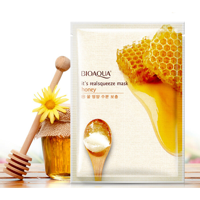 Pure Honey Nourishing Silk Mask 5Bags/lot Or 10Bags/lot Mask Cleaning Moisturizing Skin Care Contraction Pore Whitening Mask-BEAUTY-US MART NEW YORK