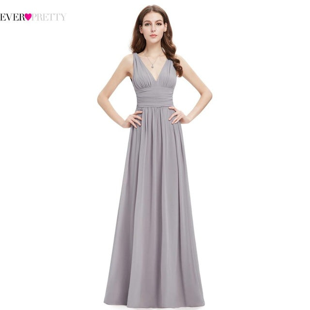 Evening Dresses New Arrival Empire EP09016 Ever Pretty Special Occasion Dresses V Neck Elegant 2017 Evening Dresses-Dresses-US MART NEW YORK