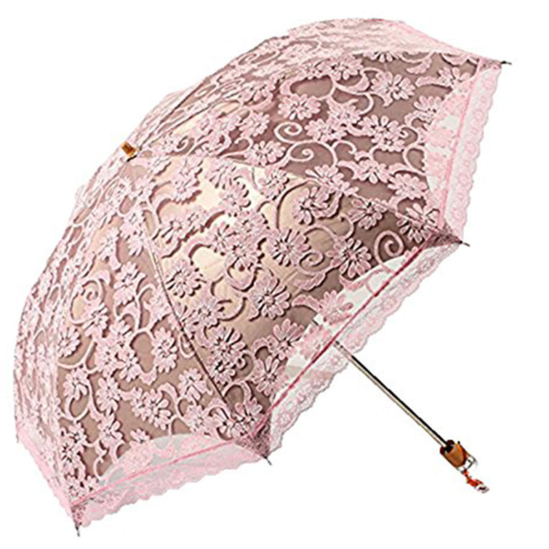 Princess Sun Umbrella Lace Parasol Umbrellas Arched UV Creative Folding Pongee Sunny Women's Umbrella Uv Custom Umbrella-UMBRELLA-US MART NEW YORK
