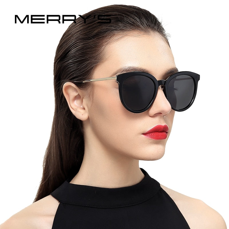 MERRY'S Women Brand Designer Cat Eye Polarized Sunglasses 100% UV Protection-WOMEN SUNGLASSES-US MART NEW YORK
