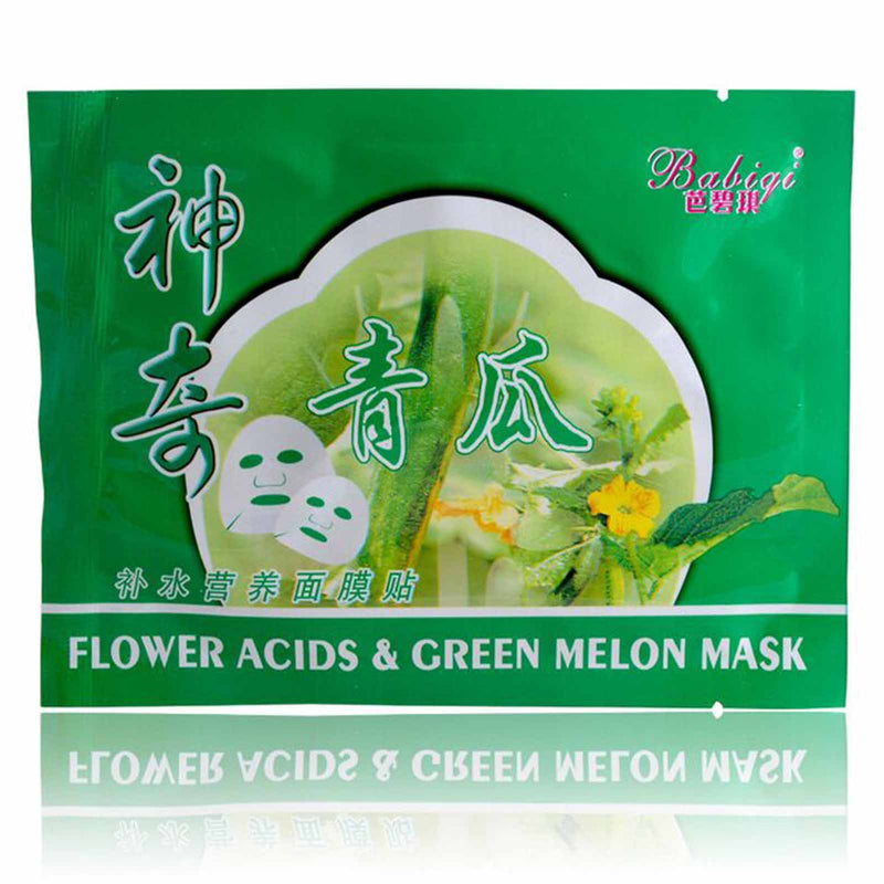 5/10/20 PCS Natural Flower Acids & Green Melon Facial Mask Moisturising Skin Care Vitamin E Hyaluronic acid 25g(0.88oz)-BEAUTY-US MART NEW YORK