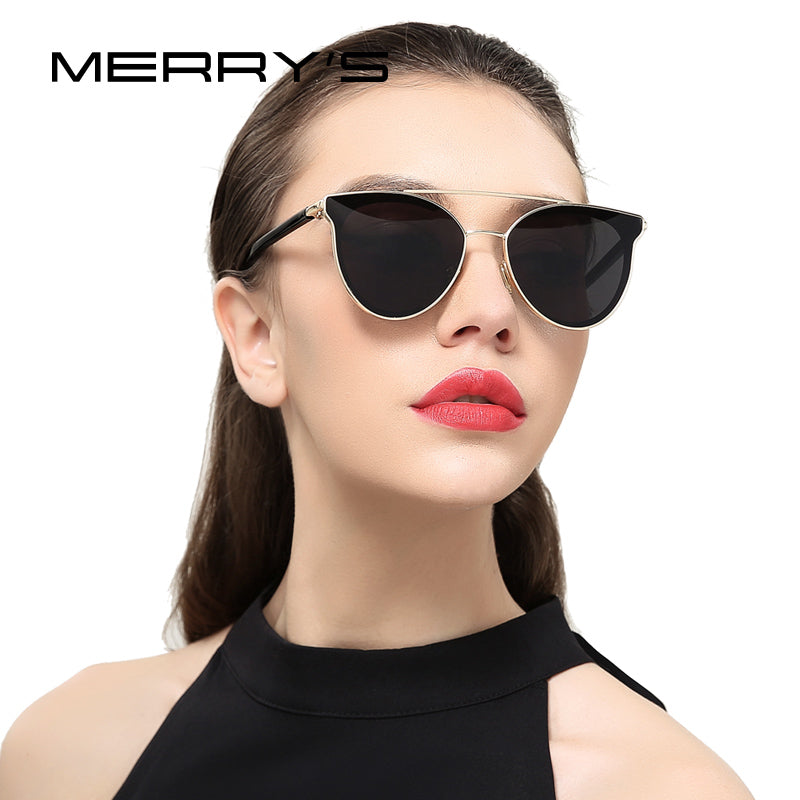 MERRY'S Women Fashion Cat Eye Sunglasses Classic Brand Designer Sunglasses-WOMEN SUNGLASSES-US MART NEW YORK