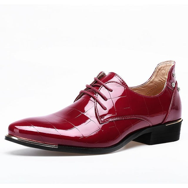 Mens Shoes Large Sizes Pointed Toe Men Red Dress Shoe Formal Shoes Homme Man Italy Dress Oxford Shoes Leather Wedding-MEN SHOES-US MART NEW YORK