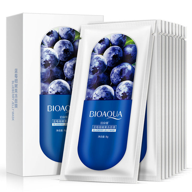 BIOAQUA Natural Plants Jelly Facial Mask Moisturizing Whitening Acne Treatments Oil Control Ageless Anti wrinkles Face Skin Care-BEAUTY-US MART NEW YORK
