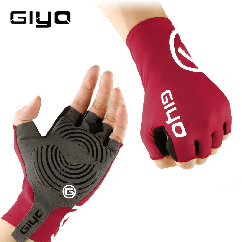 GIYO Anti Slip Gel Pad Bicycle Gloves Gel Pad Short Half Finger Cycling Gloves Breathable Outdoor Sports Men MTB Bikes Gloves