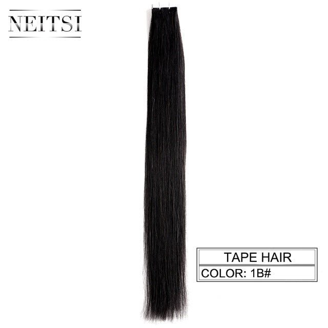 "Straight Skin Weft Adhesive Hair None Remy Tape In Human Hair Extensions 16"" 18"" 20"" 22"" 24"" Double Side Tape 13 Colors"