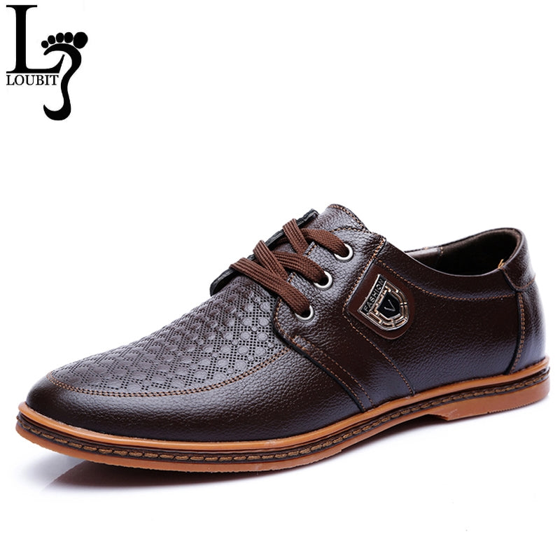 Men Leather Casual Shoes Men's Lace Up Footwear Business Adult Moccasins Male Shoes Chaussure Home-MEN SHOES-US MART NEW YORK