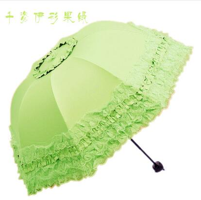New Arrival Brand Umbrella Women Lace Rain&Sun Sweet Princess Umbrella UV Protection Three Folding Durable Spitze Regenschirm-UMBRELLA-US MART NEW YORK