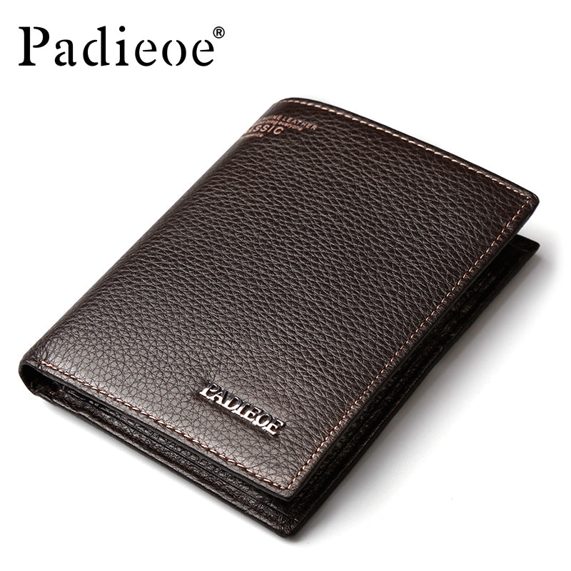 Padieoe High Quality Short Wallet Mens Purse Leather Genuine Fashion Smart Wallet And Purse for Male Card Holder Money Clamp-MEN WALLETS-US MART NEW YORK