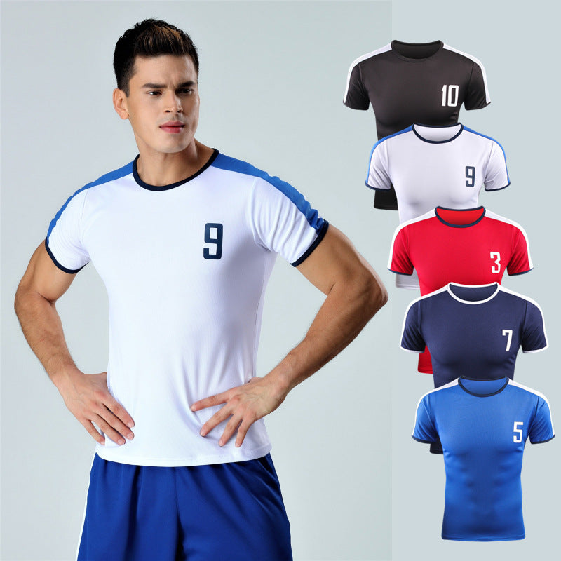 New breathable retro models men's Soccer Jersey self-cultivation short-sleeved running T-shirt basketball football T-shirt HS-JERSEY-US MART NEW YORK