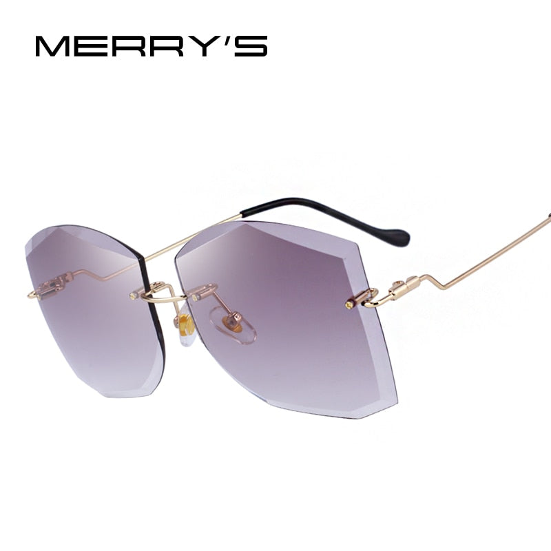MERRY'S DESIGN Women Classic Rimless Sunglasses Gradient Lens 100% UV Protection-WOMEN SUNGLASSES-US MART NEW YORK