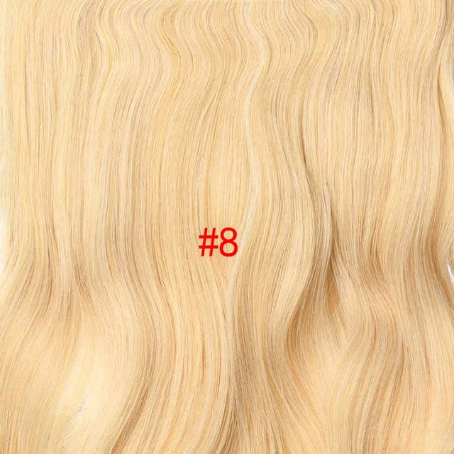 190g Wavy Clip in Hair Extensions Blonde 24 inch 17 Colors Available Synthetic Heat Resistant Fiber 4 Clips/piece