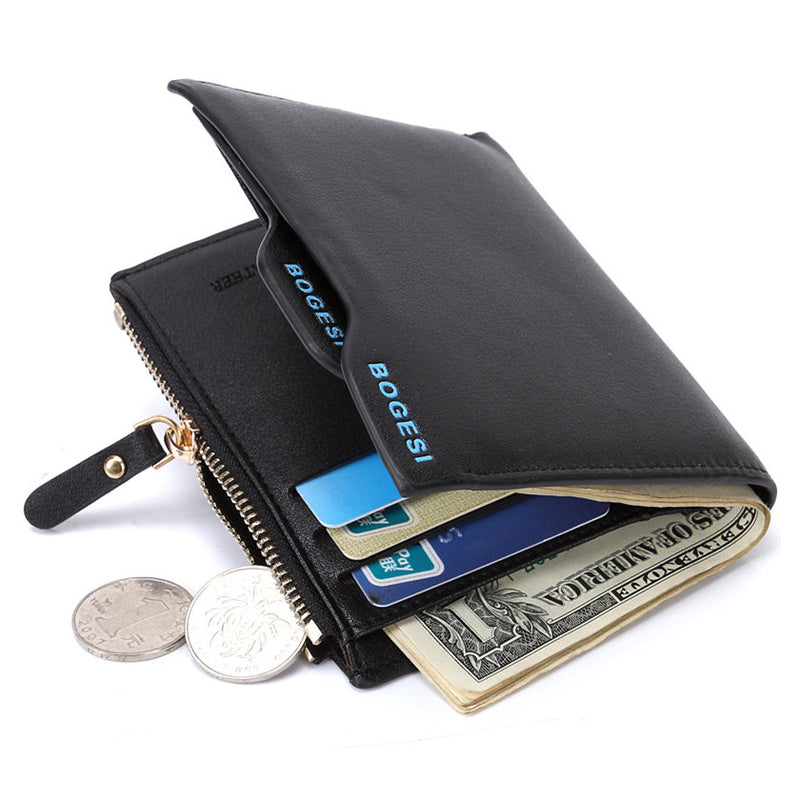 Fashion Brand Men Wallets PU Leather Rfid Smart Short Wallet Removable Card Holder Male Zipper Coin Purse Dollar Price Portfolio-MEN WALLETS-US MART NEW YORK