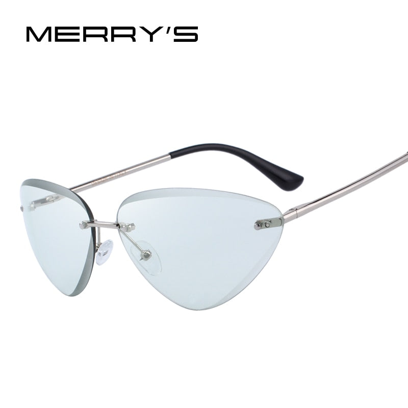 MERRY'S DESIGN Women Rimless Cat Eye Sunglasses Gradient Lens UV400 Protection-WOMEN SUNGLASSES-US MART NEW YORK