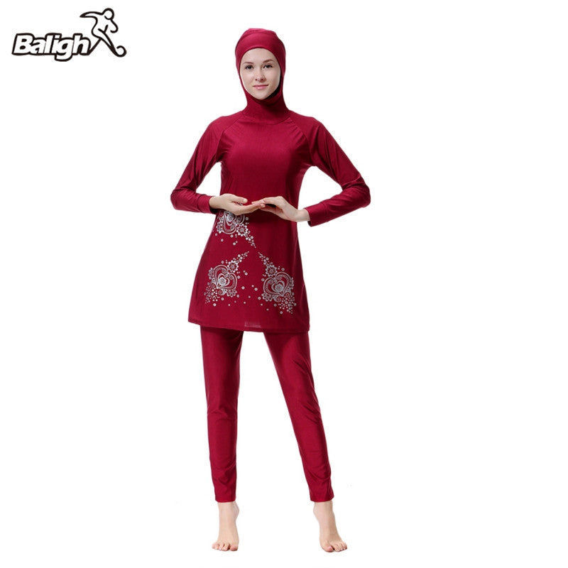 a5090da6ce7 Balight Modest Muslim Swimwear Hajib Islamic Swimsuit For Women Full Cover  Conservative Burkinis Swim Wear Plus
