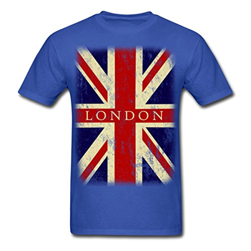 Vintage UK London Flag Men's T-Shirt Cotton Low Price Top Tee For Teen Boys Cheap Price 100 % Cotton Tee Shirts Basic Models-JERSEY-US MART NEW YORK