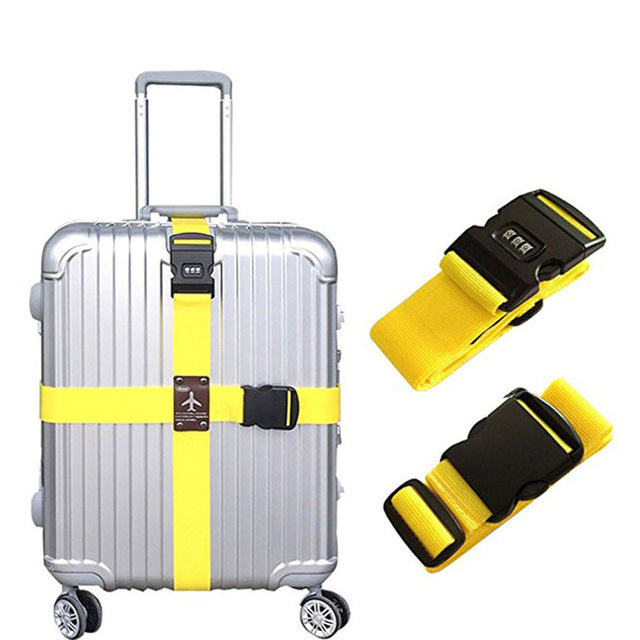 Detachable Cross Travel Luggage Strap Packing Belts Suitcase Bag Security Straps with Lock LXX9-Luggage-US MART NEW YORK